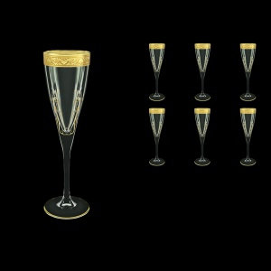 Fusion CFL FNGC H Champagne Flutes 170ml 6pcs in Romance Golden Classic Decor+H (33-434/H)