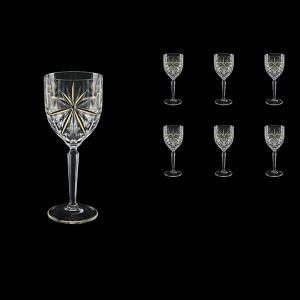 Oasis C2 OCG KCR Wine Glasses 290ml 6pcs in Half Star Gold+KCR (1298/KCR)
