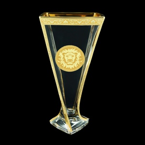 Bohemia Quadro VV QOGC Vase 330,1pc in Romance&Leo Golden Classic Decor (43-468)