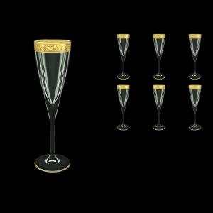 Fusion CFL FNGC Champagne Flutes 170ml 6pcs in Romance Golden Classic Decor (33-434)
