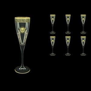 Fusion CFL FOGB H Champagne Flutes 170ml 6pcs in Lilit&Leo Golden Black Decor+H (41-434/H)
