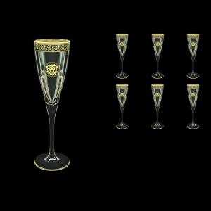 Fusion CFL FOGB H Champagne Flutes 170ml 6pcs in Lilit&Leo Golden Black Decor+H (41-434/H)