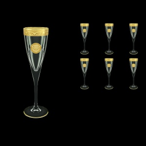 Fusion CFL FOGC Champagne Flutes 170ml 6pcs in Romance&Leo Golden Classic Decor (43-434)
