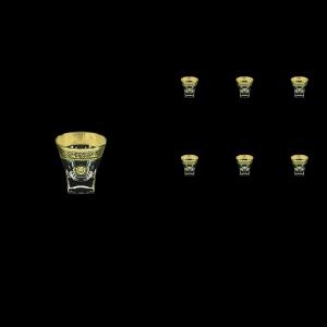 Fusion B5 FOGB H Liqueur Tumblers 65ml 6pcs in Lilit&Leo Golden Black Decor+H (41-396/H)