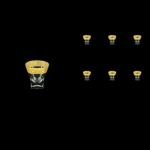 Fusion B5 FNGC Liqueur Tumblers 65ml 6pcs in Romance Golden Classic Decor (33-396)