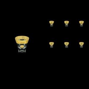 Fusion B5 FOGC Liqueur Tumblers 65ml 6pcs in Romance&Leo Golden Classic Decor (43-396)