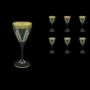 Fusion C3 FMGB H Wine Glasses 210ml 6pcs in Lilit Golden Black Decor+H (31-431/H)