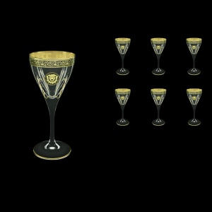 Fusion C3 FOGB H Wine Glasses 210ml 6pcs in Lilit&Leo Golden Black Decor+H (41-431/H)