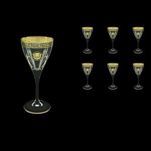Fusion C3 FOGB H Wine Glasses 210ml 6pcs in Lilit&Leo Golden Black Decor+H (41-431/H)