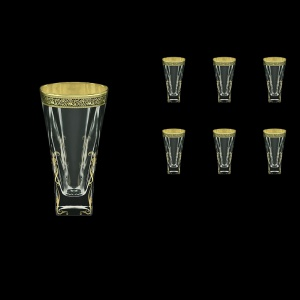 Fusion B0 FMGB H Water Glasses 384ml 6pcs in Lilit Golden Black Decor+H (31-398/H)