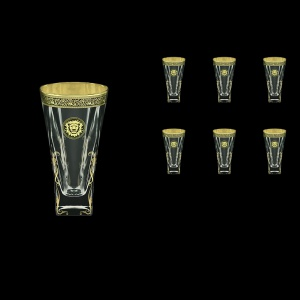 Fusion B0 FOGB H Water Glasses 384ml 6pcs in Lilit&Leo Golden Black Decor+H (41-398/H)