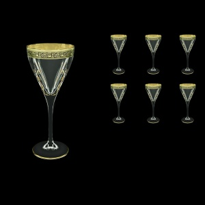 Fusion C2 FMGB H Wine Glasses 250ml 6pcs in Lilit Golden Black Decor+H (31-432/H)