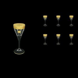 Fusion C5 FOGC Liqueur Glasses 70ml 6pcs in Romance&Leo Golden Classic Decor (43-430)