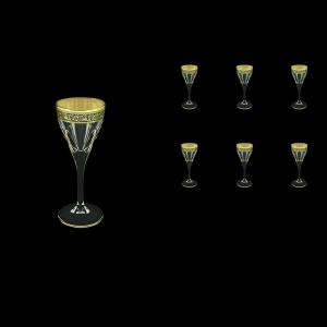 Fusion C5 FMGB H Liqueur Glasses 70ml 6pcs in Lilit Golden Black Decor+H (31-430/H)