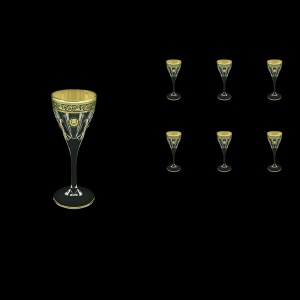 Fusion C5 FOGB H Liqueur Glasses 70ml 6pcs in Lilit&Leo Golden Black Decor+H (41-430/H)