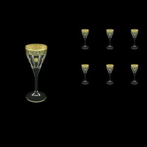 Fusion C5 FOGB H Liqueur Glasses 70ml 6pcs in Lilit&Leo Golden Black Decor+H (41-430/H)