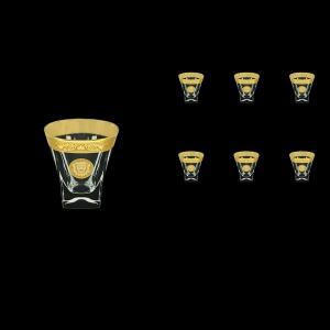 Fusion B3 FOGC Whisky Glasses 200ml 6pcs in Romance&Leo Golden Classic Decor (43-437)