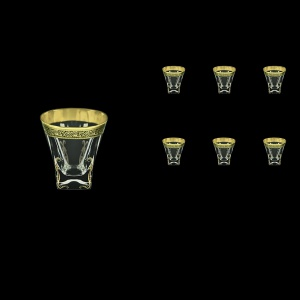 Fusion B3 FMGB H Whisky Glasses 200ml 6pcs in Lilit Golden Black Decor+H (31-437/H)
