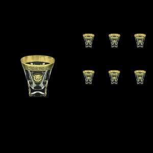 Fusion B3 FOGB H Whisky Glasses 200ml 6pcs in Lilit&Leo Golden Black Decor+H (41-437/H)