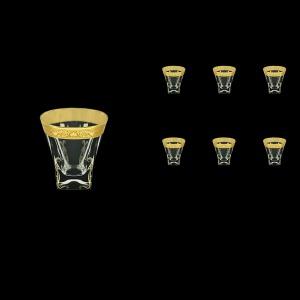 Fusion B3 FNGC H Whisky Glasses 200ml 6pcs in Romance Golden Classic Decor+H (33-437/H)