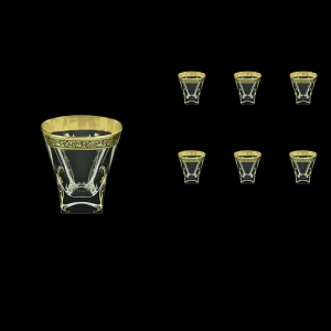 Fusion B2 FMGB H Whisky Glasses 270ml 6pcs in Lilit Golden Black Decor+H (31-397/H)