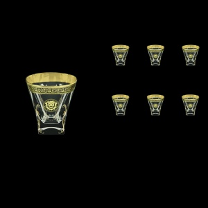Fusion B2 FOGB H Whisky Glasses 270ml 6pcs in Lilit&Leo Golden Black Decor+H (41-397/H)