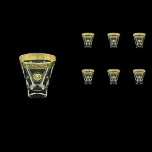 Fusion B2 FOGB H Whisky Glasses 270ml 6pcs in Lilit&Leo Golden Black Decor+H (41-397/H)