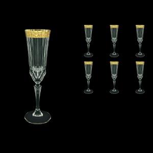 Adagio CFL ANGC Champagne Fluetes 180ml 6pcs in Romance Golden Classic Decor (33-486)