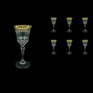 Adagio C4 AMGB Wine Glasses 150ml 6pcs in Lilit Golden Black Decor (31-481)