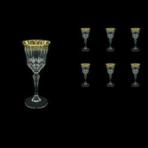 Adagio C4 AMGB Wine Glasses 150ml 6pcs in Lilit Golden Black Decor (31-481)