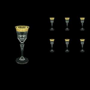 Adagio C5 ANGC Liqueur Glasses 80ml 6pcs in Romance Golden Classic Decor (33-480)