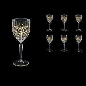Oasis C2 OOG KCR Wine Glasses 290ml 6pcs in Full Star Gold+KCR (1304/KCR)