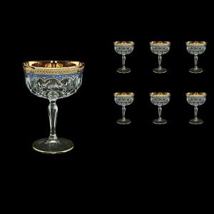 Opera CCH OEGC Champagne Bowl 240ml 6pcs in Flora´s Empire Golden Blue Decor (23-619)