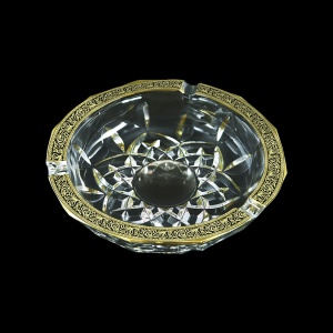 Opera PO OMGB Ashtray d17,5cm 1pc in Lilit Golden Black Decor (31-406)