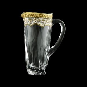 Bohemia Quadro J QEGW Jug 1100ml 1pc in Flora´s Empire Gold. White D. (21-340)