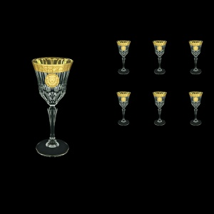 Adagio C4 AOGC Wine Glasses 150ml 6pcs in Romance&Leo Golden Classic Decor (43-481)