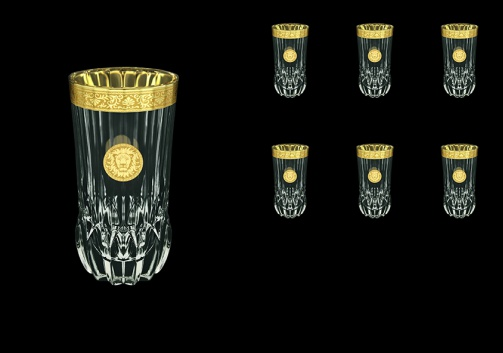 Adagio B0 AOGC Water Glasses 400ml 6pcs in Romance&Leo Golden Classic Decor (43-484)