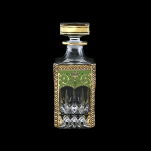 Opera WD OEGG Whisky Decanter 750ml 1pc in Flora´s Empire Golden Green Decor (24-661)
