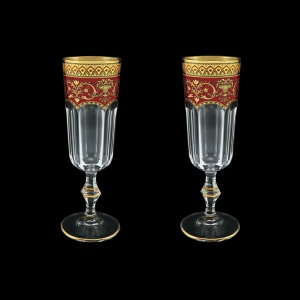 Provenza CFL PEGR Champagne Flutes 160ml 2pcs in Flora´s Empire Golden Red D. (22-524/2)