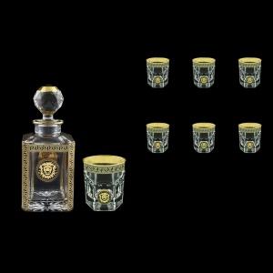 Provenza Set WD+B2 PLGB 1x750ml+6x280ml 1+6 pc in Antique&Leo Gold. Black (42-134/136)