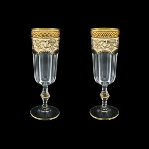 Provenza CFL PEGI Champagne Flutes 160ml 2pcs in Flora´s Empire Golden Ivory D. (25-524/2)