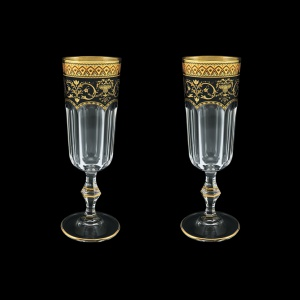 Provenza CFL PEGB Champagne Flutes 160ml 2pcs in Flora´s Empire Golden Black D. (26-524/2)