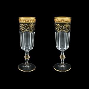 Provenza CFL PEGB Champagne Flutes 160ml 2pcs in Flora´s Empire Golden Black D. (26-524/2)