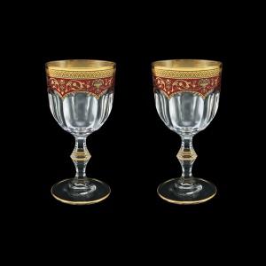 Provenza C2 PEGR Wine Glasses 230ml 2pcs in Flora´s Empire Golden Red Decor (22-523/2)