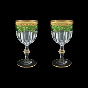 Provenza C2 PEGG Wine Glasses 230ml 2pcs in Flora´s Empire Golden Green Decor (24-523/2)