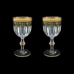 Provenza C2 PEGB Wine Glasses 230ml 2pcs in Flora´s Empire Golden Black Decor (26-523/2)