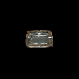 Torcello PO TMGB Ashtray 15x15cm 1pc in Lilit Golden Black Decor (31-671)