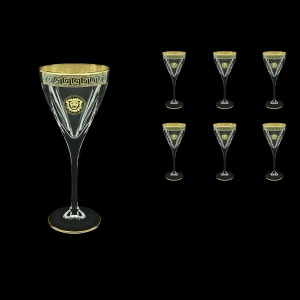 Fusion C2 FLGB Wine Glasses 250ml 6pcs in Antique&Leo Golden Black Decor (42-432)