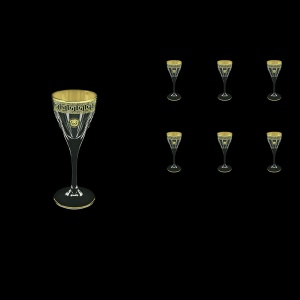 Fusion C5 FLGB Liqueur Glasses 70ml 6pcs in Antique&Leo Golden Black Decor (42-430)