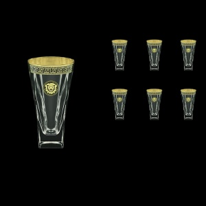 Fusion B0 FLGB Water Glasses 384ml 6pcs in Antique&Leo Golden Black Decor (42-398)